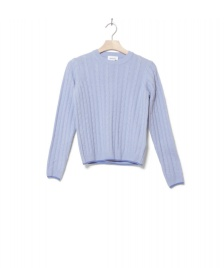 Wood Wood Wood Wood W Knit Pullover Mare blue light
