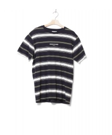 Wood Wood Wood Wood T-Shirt Perry blue navy stripes