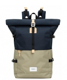 Sandqvist Sandqvist Backpack Bernt beige multi/blue