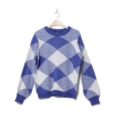 MbyM MbyM W Knit Pullover Helanor blue reflex lgm check