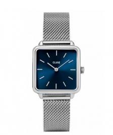 Cluse Cluse Watch La Tetragone Mesh silver/marine blue silver