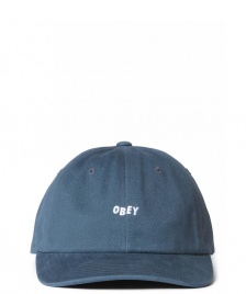 Obey Obey 6 Panel Cutty Snapback blue dark teal