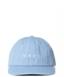 Obey Obey 6 Panel Intention Snapback blue light denim