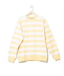 Wemoto Wemoto Sweater Crew Stripe yellow tender