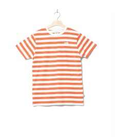 Wemoto Wemoto T-Shirt Script Stripe orange emberglow-white