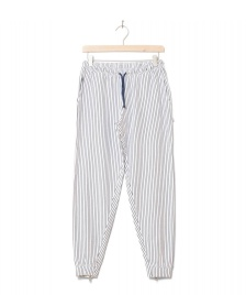 Wemoto Wemoto W Pants Mia Striped white-navy blue