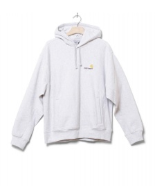 Carhartt WIP Carhartt WIP Sweater Hooded American Script grey ash heather