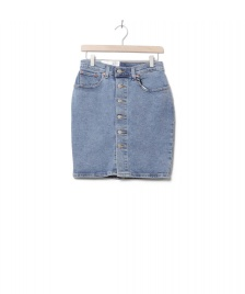 Levis Levis W Skirt Button Thru Mom blue mid race