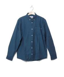 Carhartt WIP Carhartt WIP Shirt Dalton blue dark navy/pizol heavy rinsed