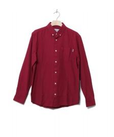 Carhartt WIP Carhartt WIP Shirt Dalton red cranberry/tango heavy rinsed