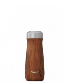 Swell Swell Bottle Traveler MD brown teakwood