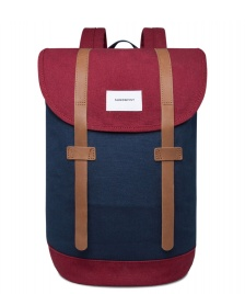 Sandqvist Sandqvist Backpack Stig multi blue/burgundy
