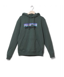 Patagonia Patagonia Hooded Sweater P-6 Logo Uprisal green alder