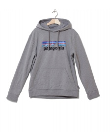 Patagonia Patagonia Hooded Sweater P-6 Logo Uprisal grey gravel heather
