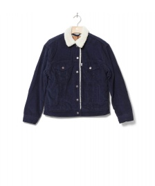Levis Levis W Jacket Sherpa Trucker Ex-Bf blue navy vintage blazer