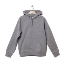 Carhartt WIP Carhartt WIP Hooded Sweater Chase grey dark heather