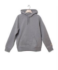 Carhartt WIP Carhartt WIP Hooded Sweater Chase grey dark heather