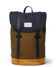 Sandqvist Sandqvist Backpack Stig multi navy/dark olive/honey yellow