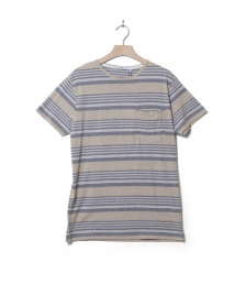Revolution (RVLT) Revolution T-Shirt 1147 Striped beige khaki