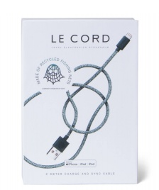 Le Cord Le Cord Charge & Sync Cable Ghost Net green