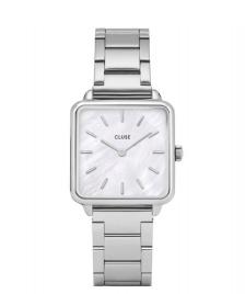Cluse Cluse Watch La Tetragone 3-Link silver/white pearl silver