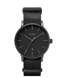Cluse Cluse Watch Aravis Nato Leather black/black black