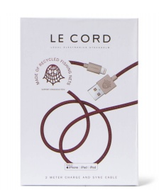 Le Cord Le Cord Charge & Sync Cable Ghost Net red plum