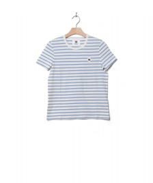 Wood Wood Wood Wood W T-Shirt Uma white off/blue stripes