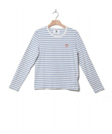 Wood Wood Wood Wood W Longsleeve Moa white off/blue stripes