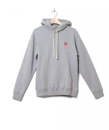 Wood Wood Wood Wood Hooded Ian grey melange
