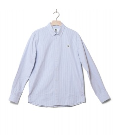 Wood Wood Wood Wood Shirt Ted white off/blue stripes