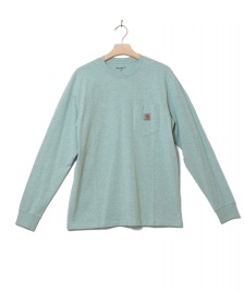 Carhartt WIP Carhartt WIP Longsleeve Pocket green zola heather