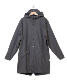 Rains Rains Rainjacket Long grey charcoal