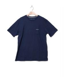 Patagonia Patagonia T-Shirt Line Logo Ridge blue classic navy