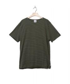 Klitmoller Collective Klitmoller T-Shirt Tom green olive/cream