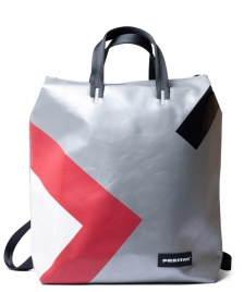 Freitag Freitag Backpack Pete silver/red/black/white