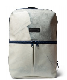 Freitag Freitag Backpack Fringe white/blue