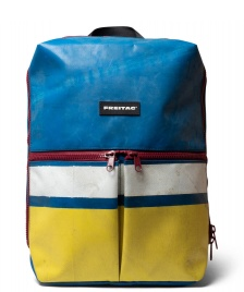 Freitag Freitag Backpack Fringe blue/yellow/white/red