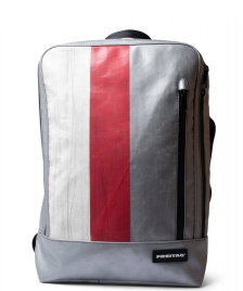 Freitag Freitag Backpack Hazzard silver/white/red