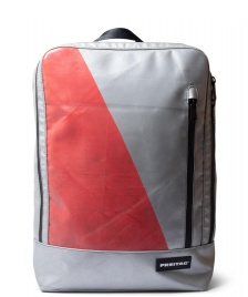 Freitag Freitag Backpack Hazzard silver/red
