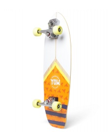 YOW YOW Street-Surfing Cruiser Mundaka Road white/orange