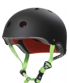 S1 S1 Helmet Lifer black matte green straps