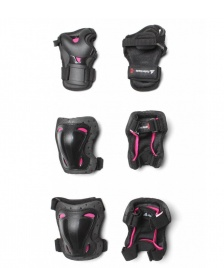 Rollerblade Rollerblade W Protection Skate Gear 3 Pack black/pink