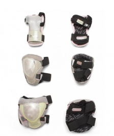Powerslide Powerslide W Protection Pro Air Tri-Pack grey/pink/transparent