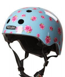 Melon Melon Helmet Flying Roses blue