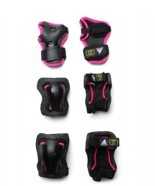 Rollerblade Rollerblade Kids Protection Skate Gear 3 Pack black/pink