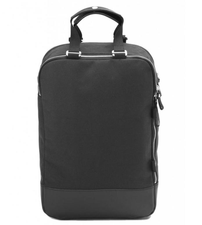 Qwstion Qwstion Bag Daypack black leather canvas