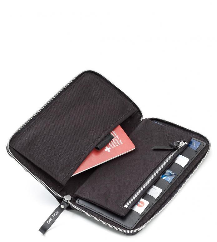 Qwstion Qwstion Wallet Passport black leather canvas