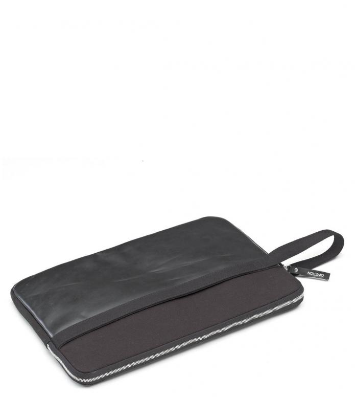 Qwstion Laptop Sleeve 15-Zoll black leather canvas one size
