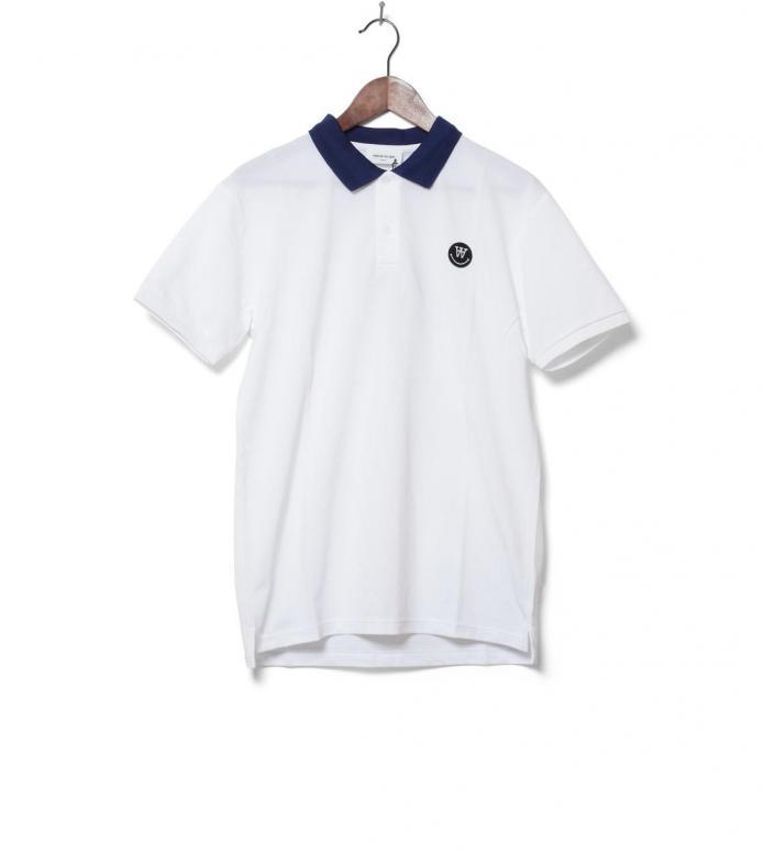 Wood Wood T-Shirt Polo Brian white S